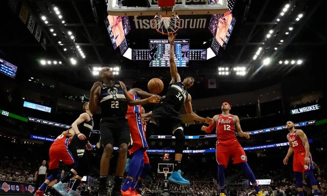 NBA: Σάρωσε του Σίξερς ο Γιάννης Αντετοκούνμπο! (video)