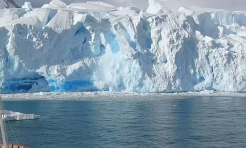 Ναυτικός ταξιδεύει στην Ανταρκτική και καταγράφει απίστευτες εικόνες απ' το λιώσιμο των πάγων (vid)