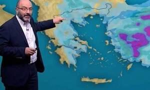 Καιρός: Πού θα βρέξει Δευτέρα και Τρίτη; Η ανάλυση του Σάκη Αρναούτογλου (video)