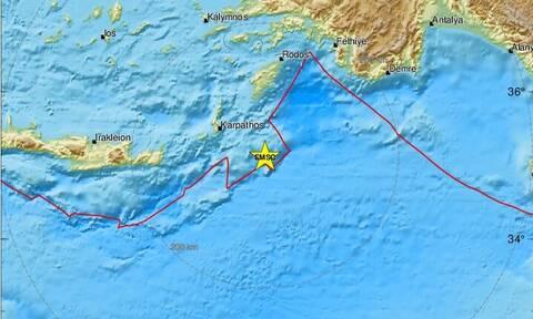 Σεισμός νοτιοανατολικά της Καρπάθου - Αισθητός σε αρκετές περιοχές (pics)