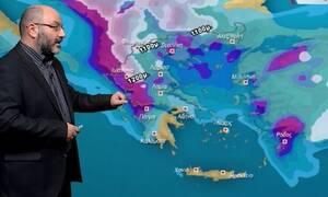 Καιρός: Προσοχή! Ραγδαία επιδείνωση την Παρασκευή με βροχές και χιόνια. Η ανάλυση του Αρναούτογλου!