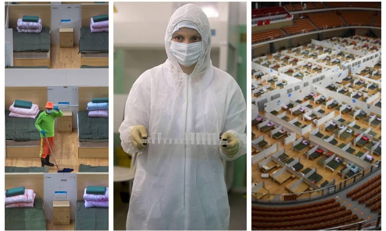 Κοροναϊός: Συγκλονιστικές εικόνες μέσα από τα προσωρινά «νοσοκομεία»