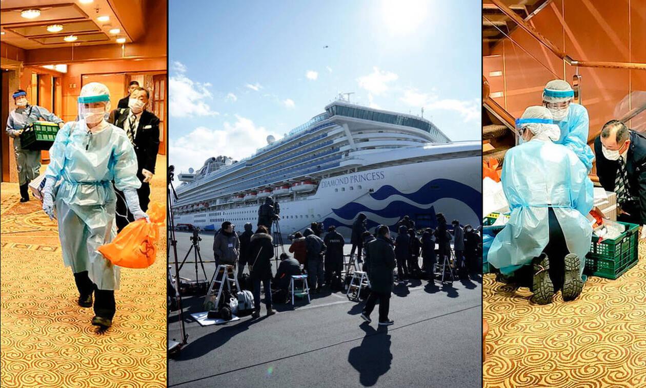 Γεμάτο κοροναϊό το κρουαζιερόπλοιο στην Ιαπωνία: Στους 218 οι ασθενείς στο Diamond Princess