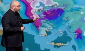 Καιρός: Προσοχή! Ραγδαία επιδείνωση με βροχές και χιόνια! Η ενημέρωση του Σάκη Αρναούτογλου (vid)