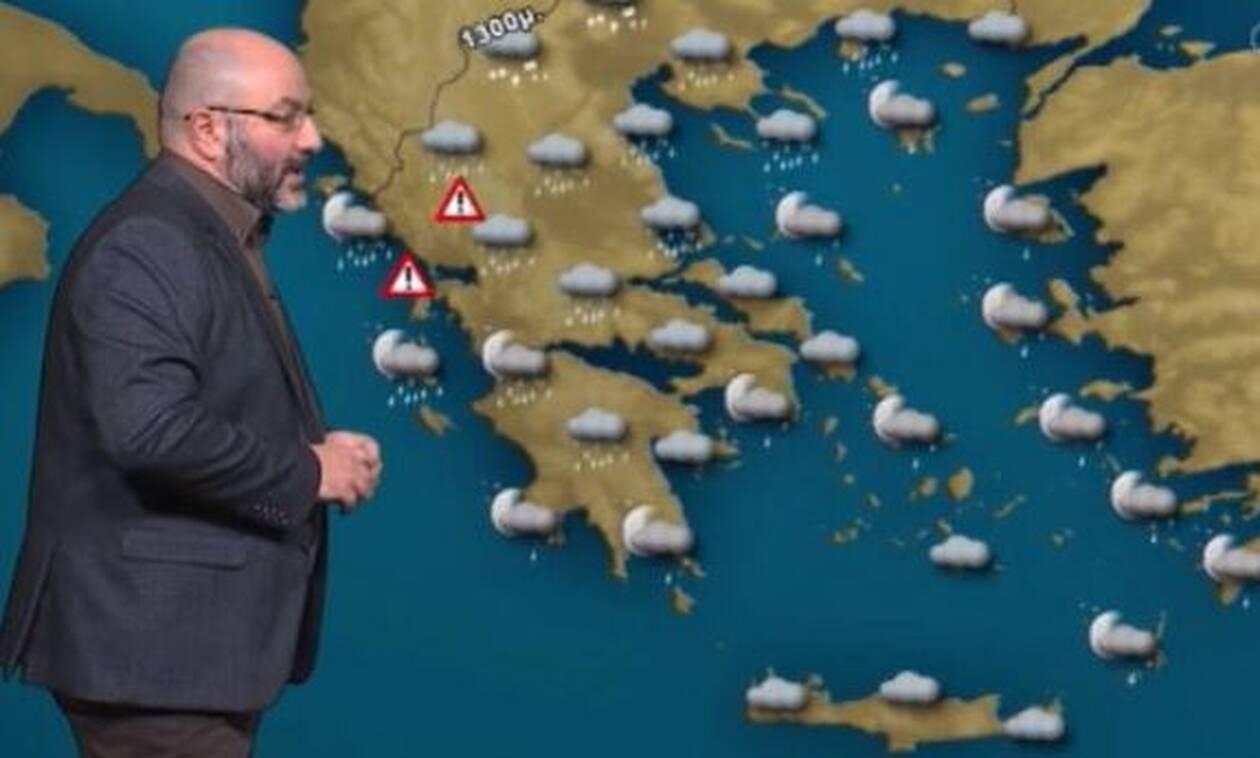 Καιρός: Θέλει προσοχή τις επόμενες ώρες! Πού θα χιονίσει; Η ενημέρωση του Σάκη Αρναούτογλου (video)