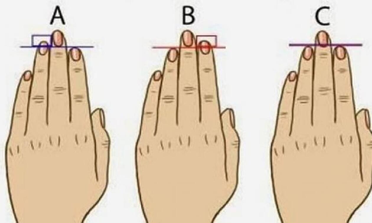 Τι «μυστικά» μαρτυρούν τα δάχτυλά σας για την προσωπικότητά σας; (photo)
