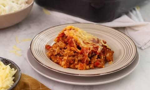 Η συνταγή της ημέρας: Λαχανόρυζο με κιμά στο φούρνο