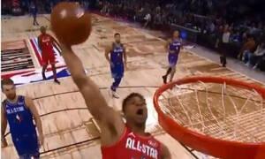 NBA All Star Game: Κάρφωμα... γκάφα από τον Γιάννη! (video)