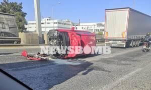 Τροχαίο-σοκ στην Αθηνών-Λαμίας: Ουρές χιλιομέτρων