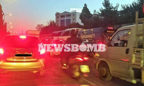 «Κόλαση» η Αθηνών - Λαμίας: Ουρές χιλιομέτρων μετά από τροχαίο (pics)
