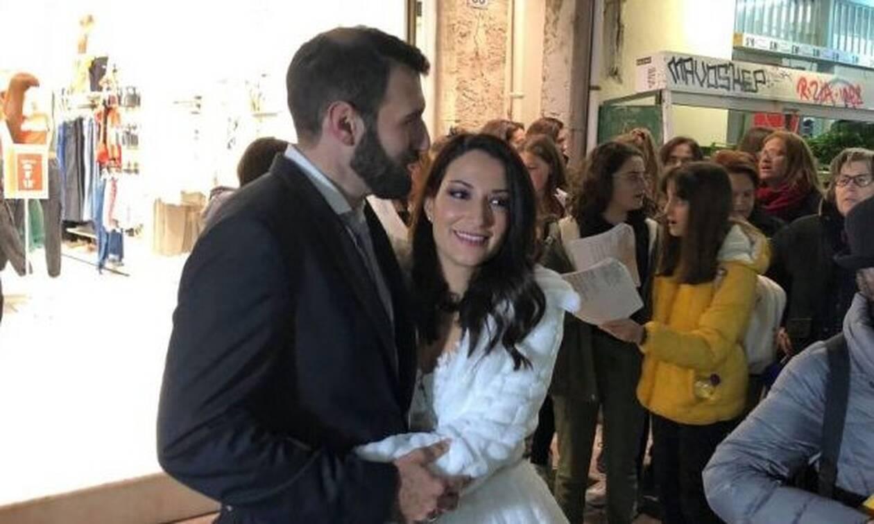 Έπαθαν την πλάκα τους η νύφη και ο γαμπρός! (video)