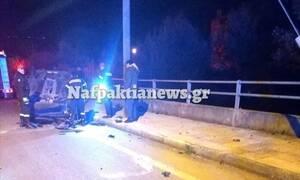 Σοβαρό τροχαίο στη Ναύπακτο: Αυτοκίνητο ντελαπάρισε και εγκλωβίστηκαν οι επιβάτες