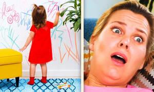 Έξυπνα κόλπα για γονείς που δεν θέλουν να χάνουν την ψυχραιμία τους (vid)
