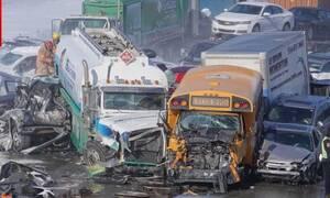 Γιγάντια καραμπόλα 200 αυτοκινήτων - 2 νεκροί