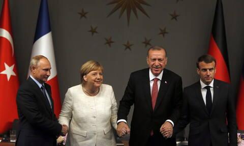 Συρία: Μέρκελ και Μακρόν καλούν Ερντογάν και Πούτιν για πολιτική λύση
