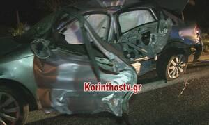 Φρικτό τροχαίο στην Εθνική Οδό Αθηνών - Κορίνθου: Ένας νεκρός - Σοκάρουν οι εικόνες
