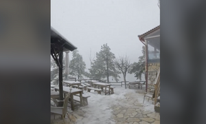 Καιρός: Ξανά στα λευκά η Πάρνηθα - Χιονίζει στο καταφύγιο Μπάφι (video)