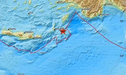 Σεισμός ανατολικά της Καρπάθου (pics)