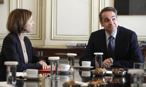 Συνάντηση Μητσοτάκη με τη Γαλλίδα υπουργό Άμυνας: Στο τραπέζι η αμυντική συνεργασία Ελλάδας-Γαλλίας