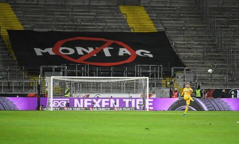 Aποχή των οπαδών της Άιντραχτ στο ματς με την Ουνιόν Βερολίνου (photos+videos)