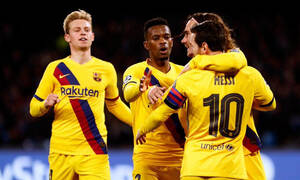 Νάπολι – Μπαρτσελόνα 1-1: Όρθιοι με Γκριζμάν οι Καταλανοί (videos+photos)