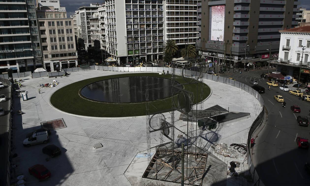Ομόνοια: Δείτε από drone τη μεταμόρφωση της ιστορικής πλατείας της Αθήνας