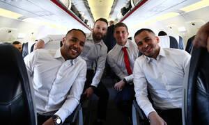 Ολυμπιακός: Aναχώρησε η πτήση... «ανατροπής» για το Λονδίνο! (photos)
