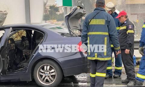 «Κόλαση» στην Εθνική Οδό Αθηνών-Λαμίας - Φωτιά σε αυτοκίνητο με υγραέριο - Μεγάλο μποτιλιάρισμα