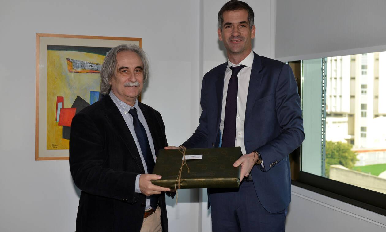 Ο δήμαρχος Αθηναίων κ. Κώστας Μπακογιάννηςστο Ευρωπαϊκό Πανεπιστήμιο Κύπρο