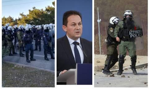 Μεταναστευτικό - Πέτσας: Αποσύρουμε μερικώς τα ΜΑΤ από Μυτιλήνη και Χίο