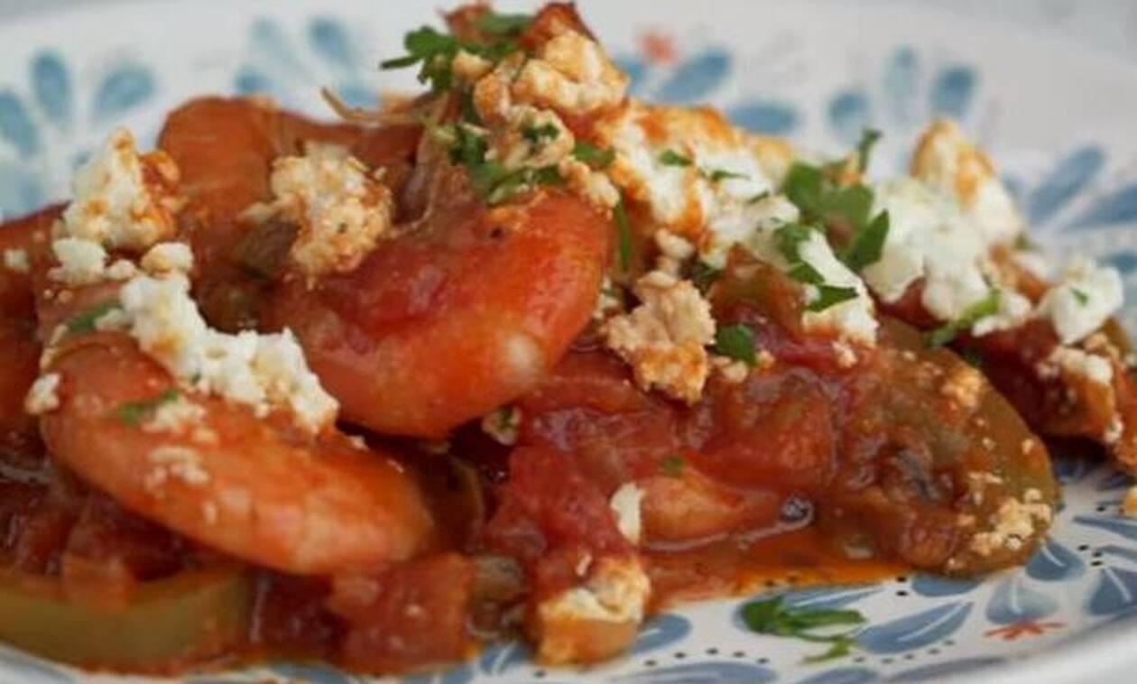Οι πιο νόστιμες γαρίδες - σαγανάκι που έχετε φάει ποτέ
