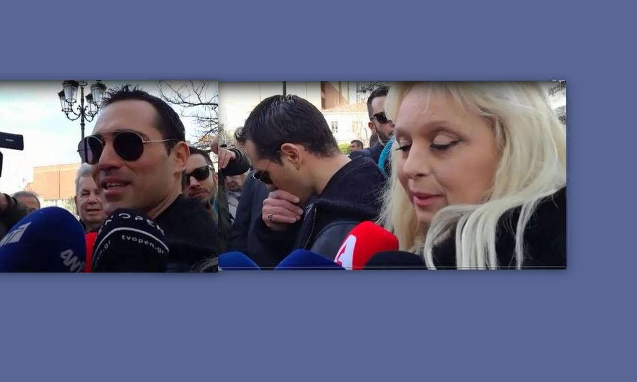 Κηδεία Κώστα Βουτσά: Λύγισε ο Άνθιμος Ανανιάδης έξω από τη Μητρόπολη Αθηνών (Video)
