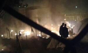 Μυτιλήνη: Σοβαρά επεισόδια μεταξύ μεταναστών και δυνάμεων της Αστυνομίας