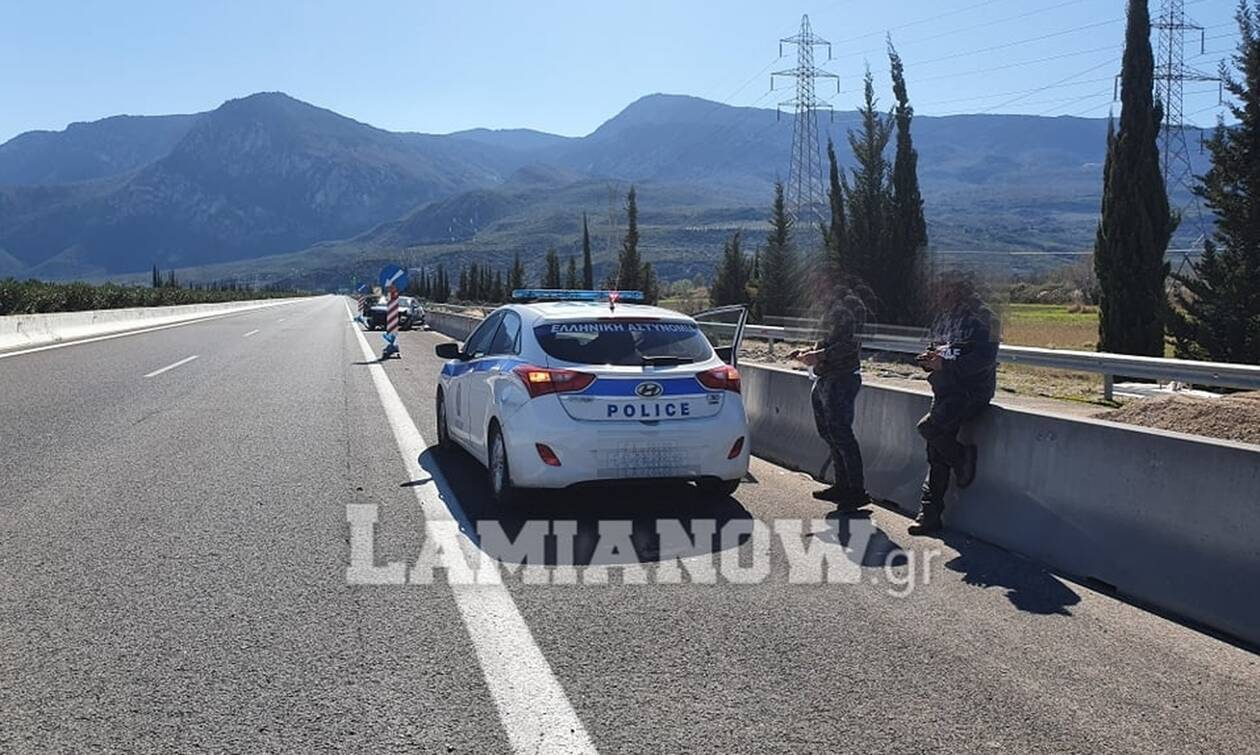 Λαμία: Απίστευτο τροχαίο στην Εθνική Οδό Αθηνών-Λαμίας - Δείτε φωτογραφίες