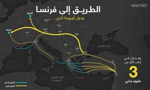 Αυτός είναι ο χάρτης με τις διαδρομές των μεταναστών - Δείτε που τους στέλνει ο Εντογάν