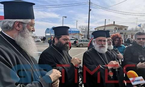 Συμπαράσταση στις δυνάμεις ασφαλείας στα σύνορα από τους 4 Μητροπολίτες Θράκης