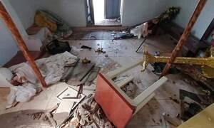 Μυτιλήνη: Άγνωστοι βανδάλισαν το εκκλησάκι του Άη Γιώργη στην Μόρια (pics)