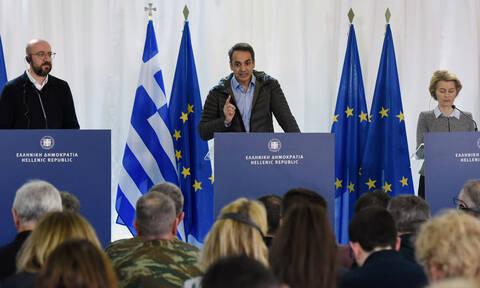 Μητσοτάκης: Καθήκον μου να υπερασπιστώ την κυριαρχία της χώρας - Οι δηλώσεις με την ηγεσία της ΕΕ
