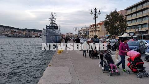Αποστολή Newsbomb.gr στη Μυτιλήνη: Νέα ένταση και επεισόδια στο λιμάνι