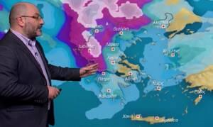Καιρός: Προσοχή! Ερχεται νέα κακοκαιρία με βροχές και χιόνια... Η ενημέρωση του Αρναούτογλου (video)