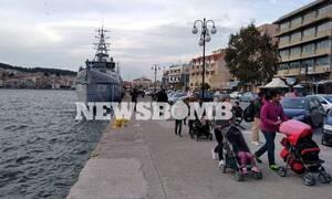 Μυτιλήνη: Κάτοικοι δεν επέτρεψαν στο πλοίο «Mare Liberum» να δέσει στο λιμάνι