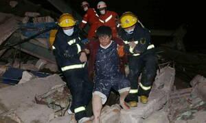 Κοροναϊός: Τρόμος στην Κίνα - Κατέρρευσε ξενοδοχείο με ασθενείς σε καραντίνα - Δεκάδες εγκλωβισμένοι