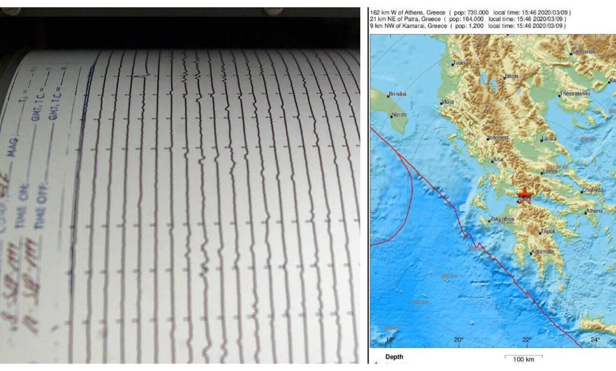 Σεισμός κοντά στη Ναύπακτο – Αισθητός και στην Πάτρα