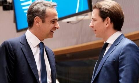 Στη Βιέννη ο Μητσοτάκης: Στο πλευρό της Ελλάδας απέναντι στην Τουρκία η Αυστρία του Κουρτς