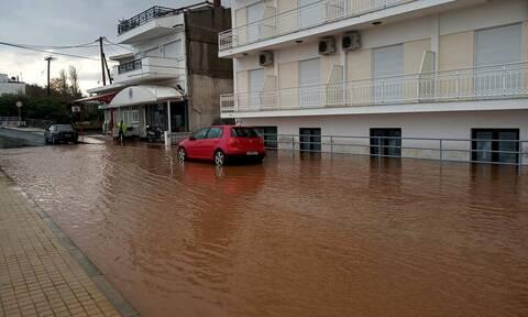 Δράμα: Έντονα πλημμυρικά φαινόμενα στο Κάτω Νευροκόπι