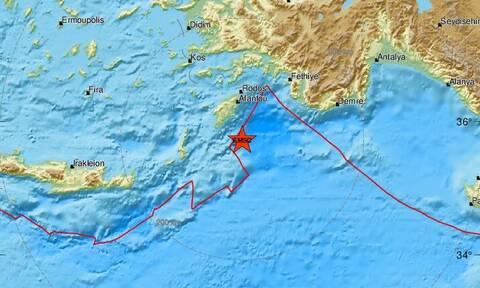 Σεισμός ΤΩΡΑ νότια της Ρόδου (pics)