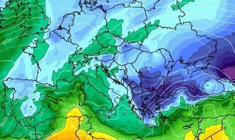 Καιρός: Προσοχή! Ερχεται ψυχρή εισβολή και κακοκαιρία με καταιγίδες και χιόνια! Καρέ καρέ η εξέλιξη