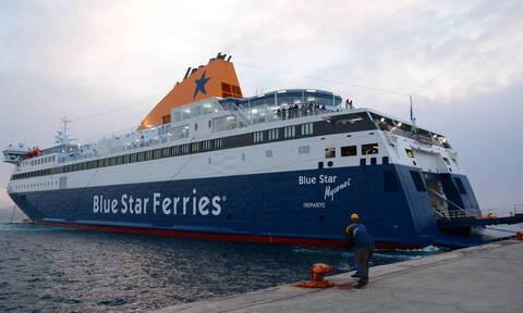 На «Blue Star Mykonos» объявлен карантин из-за подозрения коронавируса у одного из членов экипажа