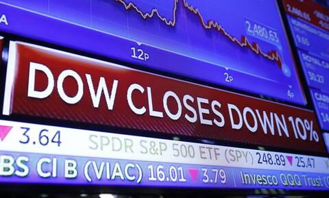 Πανικός από τον κοροναϊό στη Wall Street: Πτώση 10% στον Dow Jones - Καταρρέει η τιμή του πετρελαίου