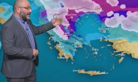 Καιρός: Ραγδαία επιδείνωση το Σαββατοκύριακο. Πού θα χιονίσει; Ενημέρωση Αρναούτογλου (vid)